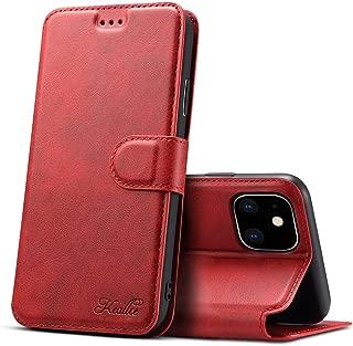 iPhone 11 ケース iPhone 11 ケース 手帳型 iPhone 11 ケース 手帳 カード収納 スタンド機能 アイフォン11 ケース 手帳型 高級PUレザーケース マグネット アイフォン 11 財布型 スマホケース(iPhone 11 6.1 inch対応) K2 レッド