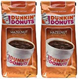Dunkin' Donuts Hazelnut Ground Coffee, 12 Ounce (Pack Of 2)