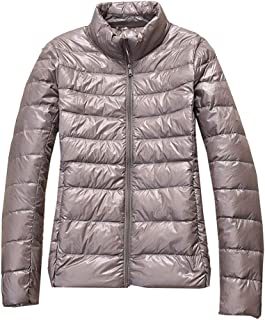Leomodo Womens Packable Ultra Short Fit Lightweight Down Jacket Outwear Slim Fit Casual Coats