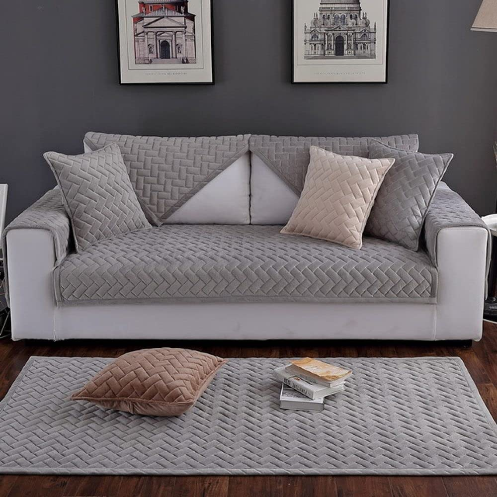 HSIYE Slipcover Sets Winter Price reduction Warm Soft Velvet Quilted Sofa Towel Department store