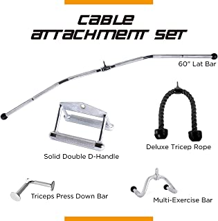 CAP Barbell Cable Attachment for Gym Exercise Machine Attachment Strength Training Home Gym Cable Attachment