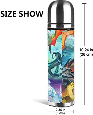 Stainless Steel Water Bottle Wings of Fire Character Insulated Vacuum Leather Leak Proof Double Walled Travel Container Packi