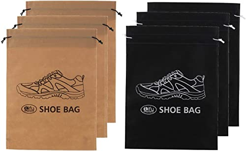 Synthetic Shoe Bags Set of 6 Multicolored