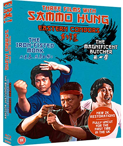 Three Films With Sammo Hung (The Iron-Fisted Monk / Magnificent Butcher / Easten Condors) (Eureka Classics) [Blu-Ray] (Keine deutsche Version)
