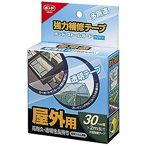 コニシ 強力補修テープ ボンド ストームガード クリヤー 30mm #04930 【まとめ買い5巻セット】