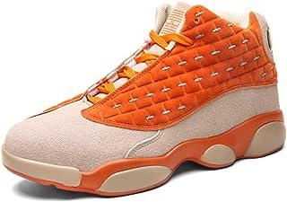 Scarpe da Basket High Performance Shock Scarpe Adatte per Interno ed Esterno in plastica Venues Tribunale o in Esecuzione in Esecuzione,Arancia,35 CXQWAN Formatori Antisdrucciolevoli da Uomo