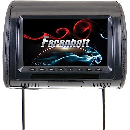 "Farenheit HR-91CC Universal Replacement Headrest Preloaded w/ 9"" LCD"