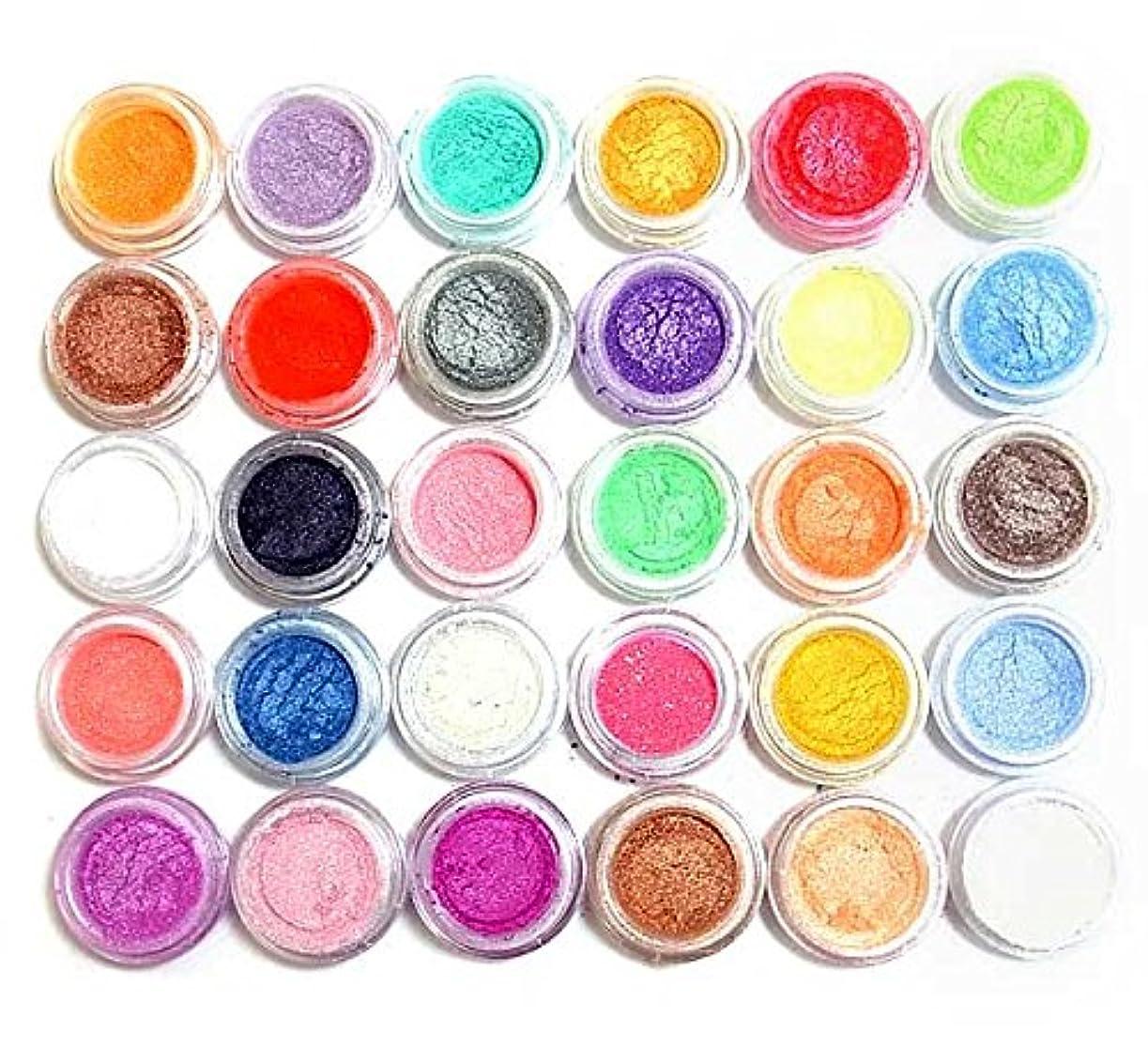 経由で集まる壊滅的な【新色】カラーパウダー顔料30色セット?クリアジェルに混ぜてパールカラージェルに!