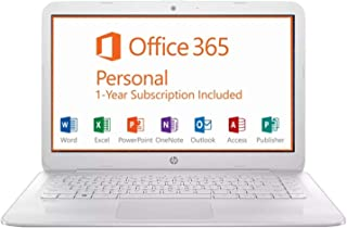 "2019 HP Stream 14"" FHD Laptop Computer, Intel Celeron N3060 up to 2.48GHz, 4GB RAM, 64GB SSD, 802.11ac WiFi, Bluetooth, HDMI, 1-Year Office 365, Windows 10"