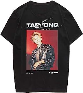 CHAIRAY Kpop SuperM Tshirt Baekhyun Mark Taemin Kai Ten Unisex Tee Shirt Merchandise