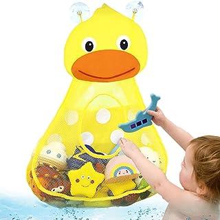 Odoukey Neta de baño Bolsa de Juguete del baño del bebé de Almacenamiento de Juguete Bolsa de Almacenamiento de baño (Pato...