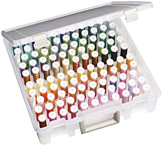 ArtBin Thread Box- Super Satchel Storage Container with two removable trays for thread..