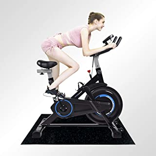 Indoor Cycling Bike Trainer Exercise Spin Bicycle Stationary Bikes with Mat and Monitor Display
