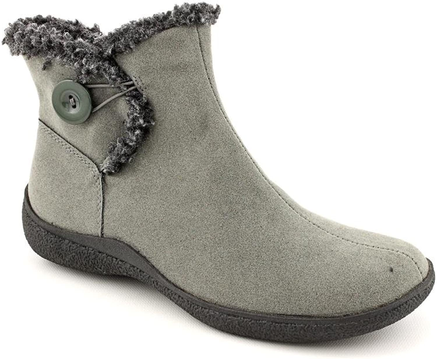 Karen Scott Women's Grady Ankle High Round Toe Boot in Grey 6M