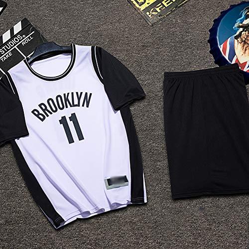 Z/A Brooklyn Nets Kyrie Irving # 11 DIY Basketball-Uniform Adult Basketball Trainingslager Trikot,Weiß,L