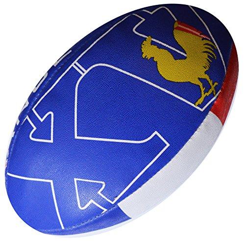 Pallone da rugby della nazionale Francese, collezione per tifosi, misura 5