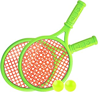 Gecheer Kids Tennis Racquet Set Children Funny Tennis with Balls for Home Garden Beach Outdoor School Training Sport