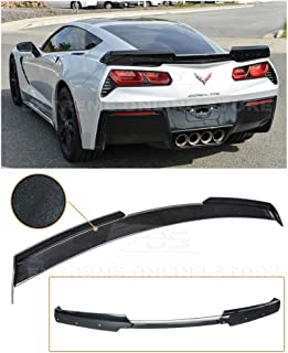 Extreme Online Store Replacement for 2014-2019 Chevrolet Corvette C7 All Models   Z06 Z07 Stage 2 Style Rear Trunk Lid Wing Spoiler (ABS Plastic - Painted Carbon Flash Metallic)