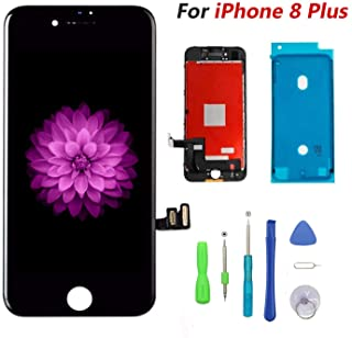 Compatible with iPhone 8 Plus Screen Replacement Black, FFtopu LCD Display & Touch Screen Digitizer Frame Assembly Set wit...