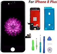 Compatible with iPhone 8 Plus Black (5.5''),LCD Display & Touch Screen Digitizer Frame Assembly Set with 3D Touch Free Repair Tool