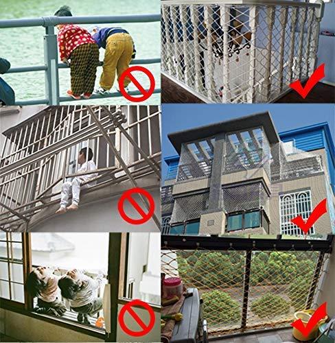 GVCT Red de Seguridad para niños: Valla de protección para barandillas de balcón, Redes de Valla Tejidas a Mano, para barandillas Interiores, escaleras, Patios al Aire Libre, balcón, Red de Juegos