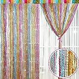 Norme 2 piezas 100 centímetros 200 centímetros brillo cortina paneles de algodón cortina cortina cortina ventana puerta mosca cortina (estilo G)