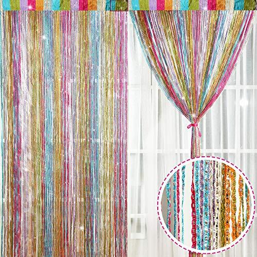 2 Stück Faden Vorhang Panel (Stil G)