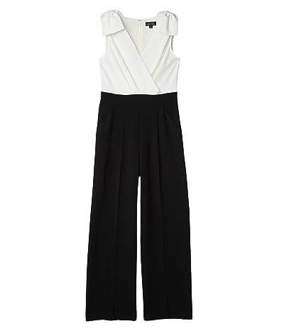 Tahari by ASL Surplus Jumpsuit with Bow Shoulder (Black/White) Women