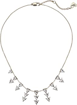 Blue by Betsey Johnson Gold Tone Cubic Zirconia Stone Frontal Necklace
