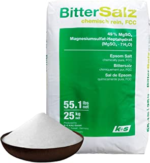 Natural Pure Epsom Salt 25kg German Bittersalz