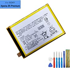 New Replacement Battery LIS1605ERPC Compatible with Sony Xperia Z5 Premium Z5P E6883 E6853 E6833 SO-03H with Tools