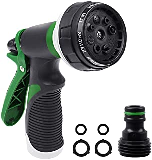 Onarway Garden Hose Spray Gun Set 8 Patterns High Pressure Nozzles, Anti-Slip Design, Perfect for Watering Plants Car Wash...