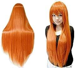 Anogol Vocaloid 80cm Long Straight Wigs Lolita Orange Cosplay Wig Hair Wigs
