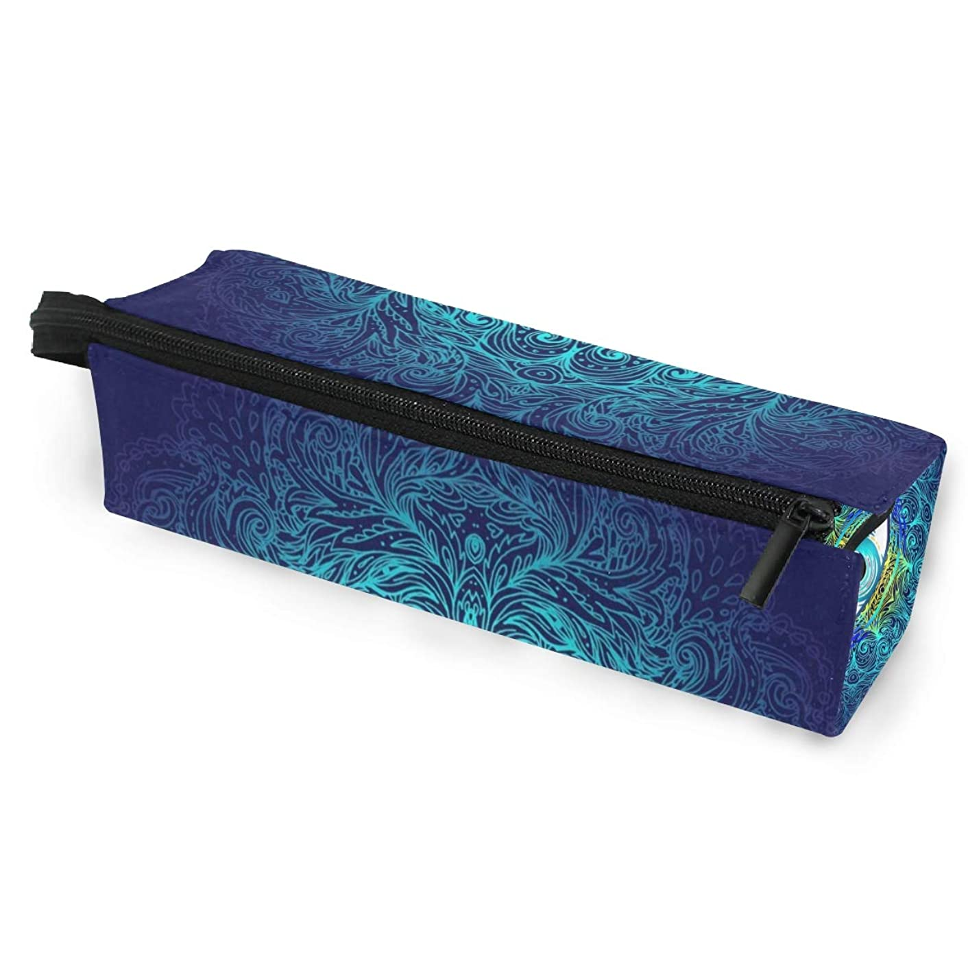 Glasses Case Sacred Geometry Eye Multi-Function Zippered Pencil Box Makeup Cosmetic Bag for Women