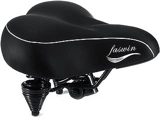 Faswin Bike Seat Bicycle Suspension Wide Cruiser Saddle,...