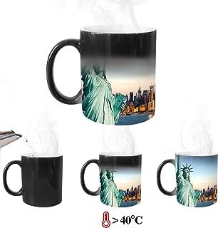 8PCS Coffee Mugs 11OZ Sublimation Blanks Coffee Mug Coffee Cup for Coffee Tea (8 pcs Heat Sensitive Mugs)