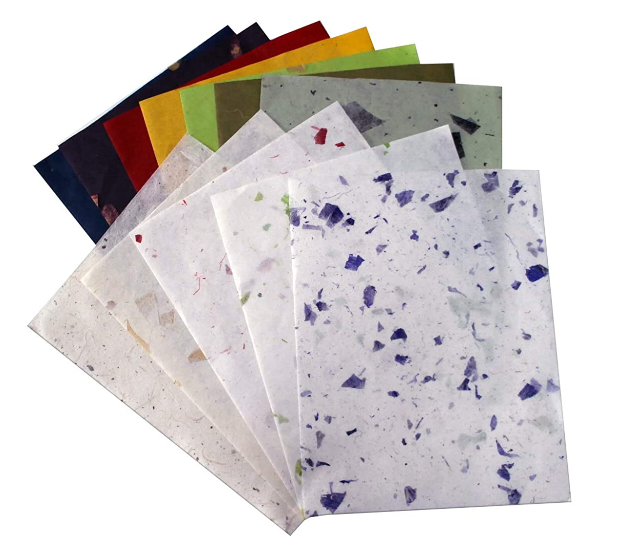 10 Pcs Thin Mulberry Parchment Cardstock Ideas Scrapbook Design Tissue Collage Art Wallpaper Texture Sheet Background