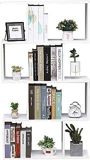 Librería Estante Blanco Oficina Moderna Contemporáneo Contemporáneo partición Casa de Madera Día 70x23.5x127.5 Estantes au...
