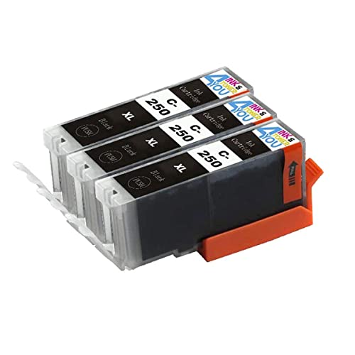 5 Pack Compatible Inkjet Cartridges for PGI-250XL CLI-251XL Black Cyan Magenta Yellow Pixma MG5420 MG5450 MG5520 MG6320 MG6350 MG6420 MG7120 MX722 MX725 MX922 MX925 iX6820 iX6850 iP7220 iP7250