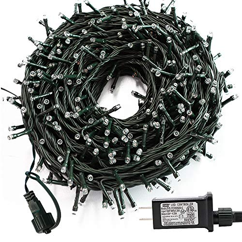 Upgraded 105ft 300 LED Led Christmas Lights,Indoor Outdoor Christmas Tree Lights,End-to-End Plug 8 Modes - UL Certified Twinkle String Lights for Outside Christmas Tree, Patio, Garden, Party