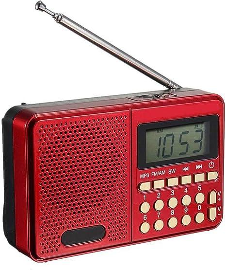 Lsmaa Mini Radio, FM/Am/FM/Lector de Tarjetas de Disco U Sw ...