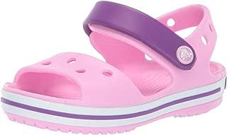 crocs Girls Crocband Kids' Sandals Pink in Size UK 10 Little Kid
