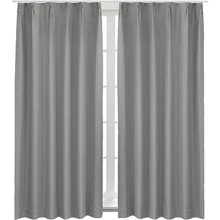 Bedsure完全遮光カーテン防音遮熱一級遮光断熱遮音グレー目隠しかーてん幅100cm×丈178cmしゃこう しゃねつ