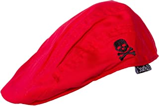Sourpuss Red & Black Jeff Skull and Crossbones Cap from Clothing
