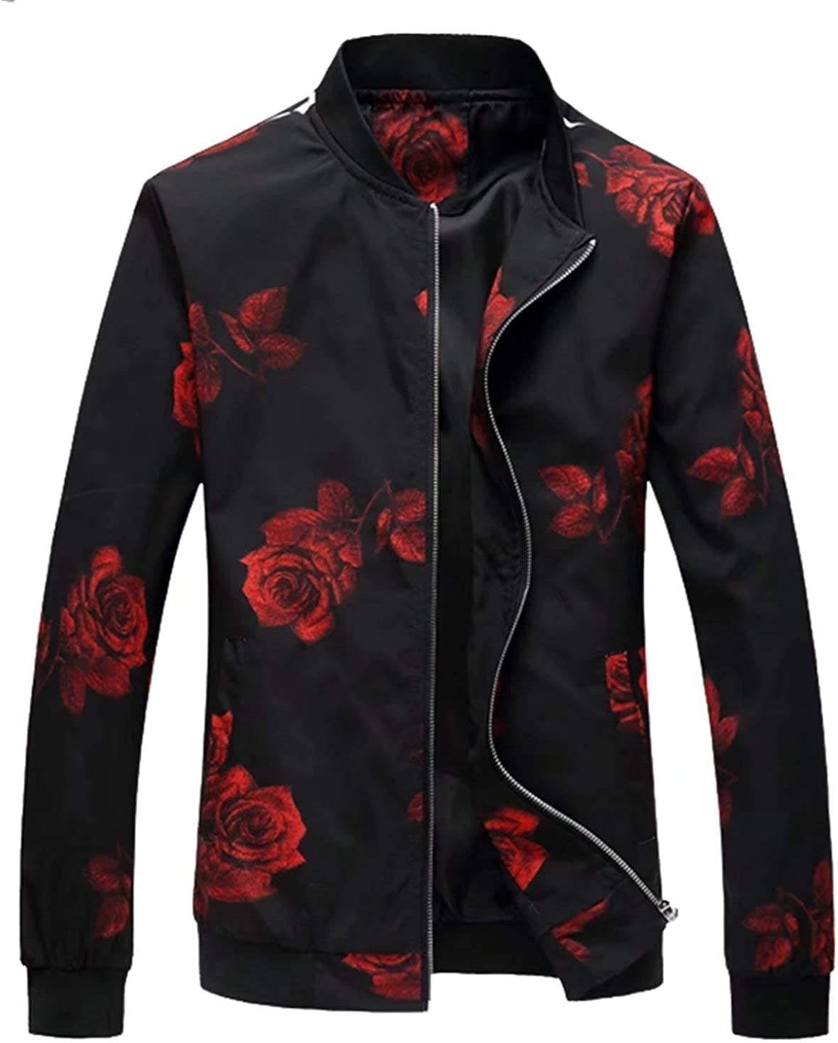 EMAOR Mens Casual Slim Be super welcome Fit Lightweight Printed Ranking TOP4 Jacket Coat Styl