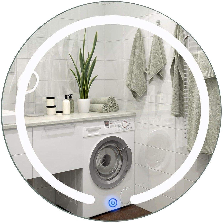 NITCHA14 Mirror Round 20  LED Touch Button Wall Mount Home Bathroom 50 60 Hz White