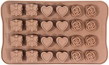 24 Cavity Chocolate Candy Sugar Mold Silicone DIY Fondant Mould Tools Molds for Cake Decorating DIY Baking Tools for Jelly - CM1-Gift