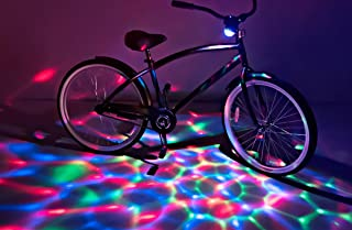 Brightz BoomBrightz Blinking Rechargeable LED Bicycle Accessory with Bluetooth Speaker, Red/Green/Blue