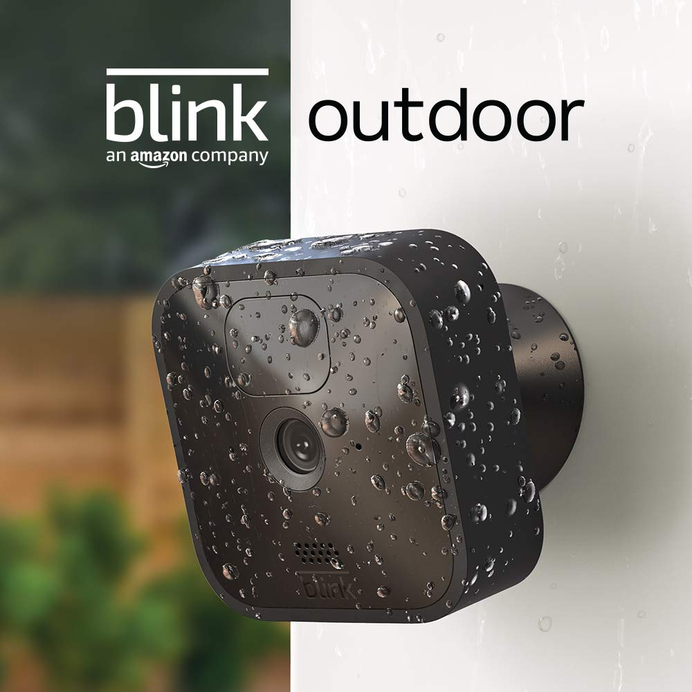 Blink Outdoor - wireless, weather-resistant HD security camera, two-year battery life, motion detection, set up in minutes – 2 camera kit
