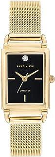 ساعة يد كوارتز بنمط عرض انالوج وسوار من الستانلس ستيل للنساء من ان كلاين، AK-3036BKGB